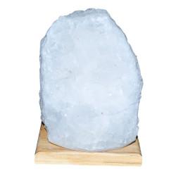 LokmanAVM - Doğal Kristal Kaya Tuzu Lambası Çankırı Kablolu Ampullü Beyaz 3-4 Kg Görseli