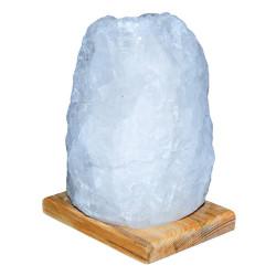 Doğal Kristal Kaya Tuzu Lambası Çankırı Kablolu Ampullü Beyaz 3-4 Kg - Thumbnail