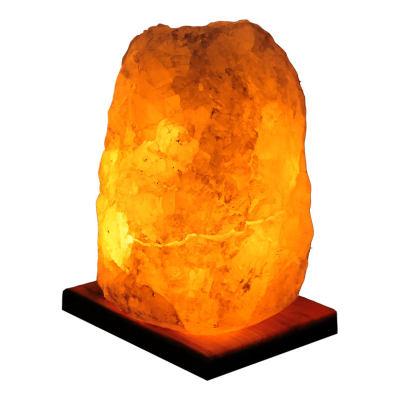Doğal Kristal Kaya Tuzu Lambası Çankırı Kablolu Ampullü Beyaz 3-4 Kg