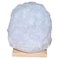 LokmanAVM - Doğal Kristal Kaya Tuzu Lambası Çankırı Kablolu Ampullü Beyaz 5-6 Kg Görseli