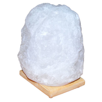 Doğal Kristal Kaya Tuzu Lambası Çankırı Kablolu Ampullü Beyaz 5-6 Kg