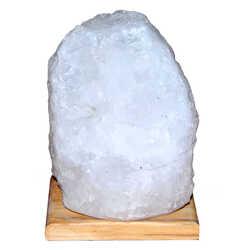 LokmanAVM - Doğal Kristal Kaya Tuzu Lambası Çankırı Kablolu Ampullü Beyaz 6-7 Kg Görseli