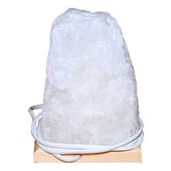 Doğal Kristal Kaya Tuzu Lambası Çankırı Kablolu Ampullü Beyaz 6-7 Kg - Thumbnail