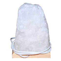 Doğal Kristal Kaya Tuzu Lambası Çankırı Kablolu Ampullü Beyaz 7-8 Kg - Thumbnail
