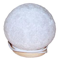 Doğal Küre Kaya Tuzu Lambası Kablolu Ampullü Beyaz 4-5 Kg - Thumbnail