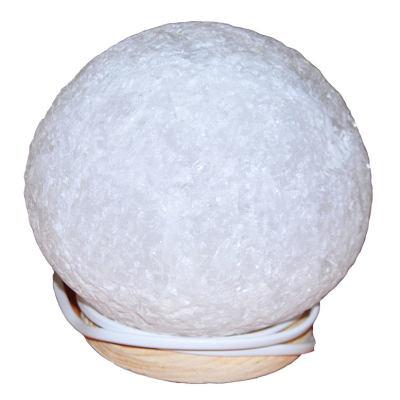 Doğal Küre Kaya Tuzu Lambası Kablolu Ampullü Beyaz 4-5 Kg
