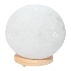 LokmanAVM - Doğal Küre Kaya Tuzu Lambası Kablolu Ampullü Beyaz 5-6 Kg Görseli