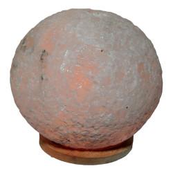 Doğal Küre Kaya Tuzu Lambası Kablolu Ampullü Beyaz 5-6 Kg - Thumbnail