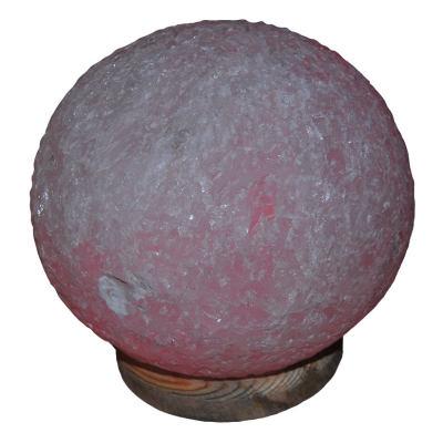 Doğal Küre Kaya Tuzu Lambası Kablolu Ampullü Beyaz 6-7 Kg