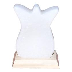 LokmanAVM - Doğal Lale Desenli Kaya Tuzu Lambası Kablolu Ampullü Beyaz 1-2 Kg Görseli