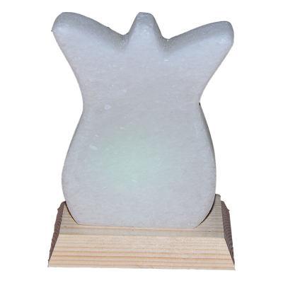 Doğal Lale Desenli Kaya Tuzu Lambası Kablolu Ampullü Beyaz 1-2 Kg
