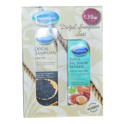 Mecitefendi - Doğal Şampuan Seti - Çörek Otlu Şampuan & Argan Yağlı Saç Maskesi Görseli