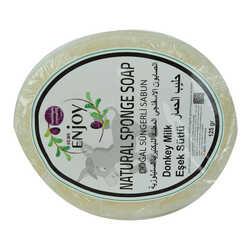 Enjoy - Doğal Süngerli Eşek Sütü Sabunu 125 Gr (1)