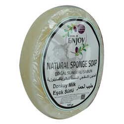 Doğal Süngerli Eşek Sütü Sabunu 125 Gr - Thumbnail