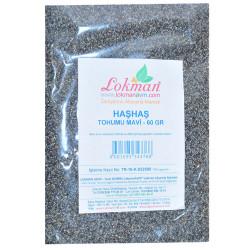 LokmanAVM - Doğal Tane Haşhaş Tohumu Mavi 60 Gr Paket (1)