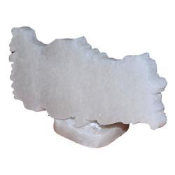 LokmanAVM - Doğal Türkiye Haritası Desenli Kaya Tuzu Biblosu Beyaz 1-2 Kg Görseli