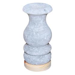 LokmanAVM - Doğal Vazo Kaya Tuzu Lambası Çankırı Kablolu Ampullü Beyaz 1-2 Kg Görseli