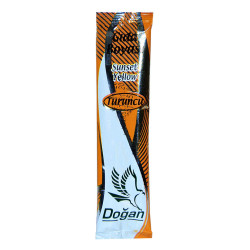 Pasta Şerbet Slime Gıda Boyası Turuncu Toz 9 Gr Paket - Thumbnail