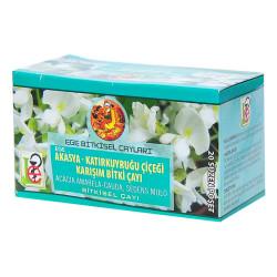 Ege Lokman - Akasya Katırkuyruğu Çiçeği Karışım Bitki Çayı 20 Süzen Pşt (1)