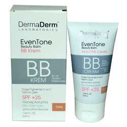 DermaDerm - EvenTone BB Krem Orta Ton Vitaminli Spf+25 Güneş Koruma Bitki Özlü 50 ML (1)