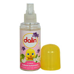 Dalin - Floral Bebek Kolonyası Menekşe Yasemin Yeşil Elma Kokulu 70 Derece 150 ML (1)