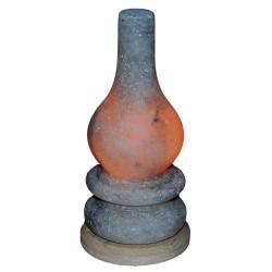 Gaz Lambası Şekilli Doğal Kaya Tuzu Lambası Çankırı Kablolu Ampullü Beyaz 2-3 Kg - Thumbnail