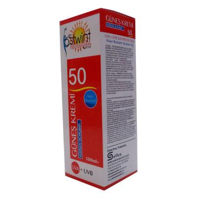 Güneş Kremi 50 Faktör UVA+ UVB Yüksek Koruma Suya Dayanıklı 100 ML