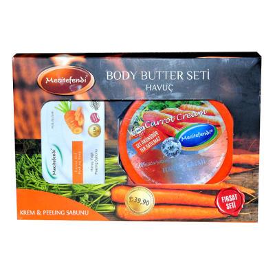 Havuç Yağlı Vücut Bakım Seti - Krem & Peeling Sabunu