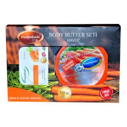 Mecitefendi - Havuç Yağlı Vücut Bakım Seti - Krem & Peeling Sabunu Görseli