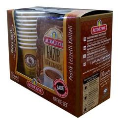 Hazır Türk Kahvesi Sade 10 Pkt + 10 Bardaklı Ofis Seti - Thumbnail