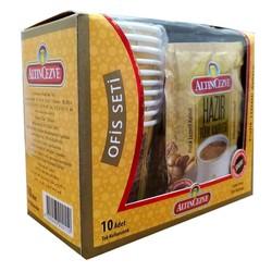 Hazır Türk Kahvesi Şekerli 10 Pkt + 10 Bardaklı Ofis Seti - Thumbnail