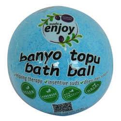 Himalaya Tuzlu El Yapımı Banyo Bombası Banyo Topu Mavi 90-120 Gr - Thumbnail