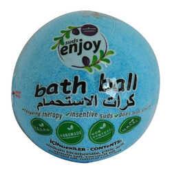 Enjoy - Himalaya Tuzlu El Yapımı Banyo Bombası Banyo Topu Mavi 90-120 Gr Görseli