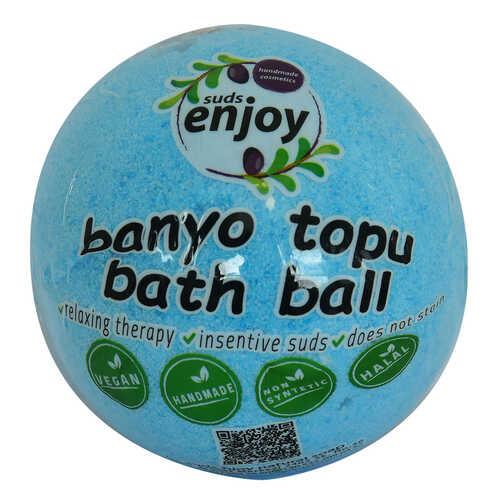 Himalaya Tuzlu El Yapımı Banyo Küvet Topu Sabunu Mavi 90-120 Gr