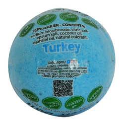 Himalaya Tuzlu El Yapımı Banyo Küvet Topu Sabunu Mavi 90-120 Gr - Thumbnail