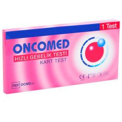 Oncomed - Hızlı Gebelik Testi - 1 Kart Test Görseli