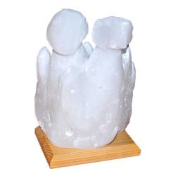 İki Bacalı Peribacası Şekilli Doğal Kaya Tuzu Lambası Çankırı Kablolu Ampullü Beyaz 4 - 5 Kg - Thumbnail