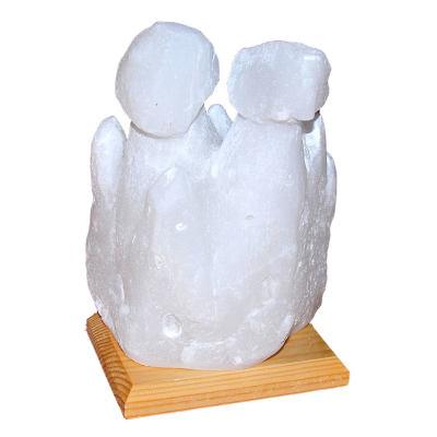 İki Bacalı Peribacası Şekilli Doğal Kaya Tuzu Lambası Çankırı Kablolu Ampullü Beyaz 4 - 5 Kg
