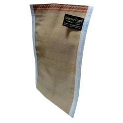 Micro Peel - İpek Sırt ve Vücut Kesesi Kahverengi 17X25 (1)