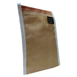 İpek Sırt ve Vücut Kesesi Kahverengi 17X25 - Thumbnail