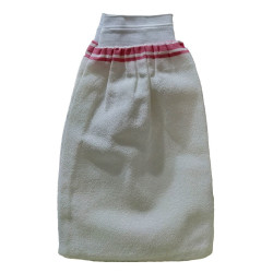 İpek Sırt ve Vücut Kesesi Lastikli Beyaz 15X25 - Thumbnail