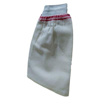 İpek Sırt ve Vücut Kesesi Lastikli Beyaz 15X25