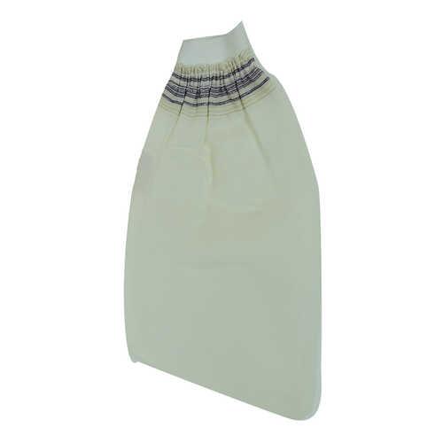 İpek Sırt ve Vücut Kesesi Lastikli Eldiven Beyaz 15x25
