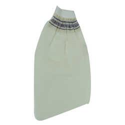 İpek Sırt ve Vücut Kesesi Lastikli Eldiven Beyaz 15x25 - Thumbnail
