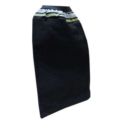 İpek Sırt ve Vücut Kesesi Lastikli Siyah 15X27