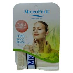 Micro Peel - İpek Yağlı Cilt İçin Banyo Kesesi Beyaz 16X24 (1)