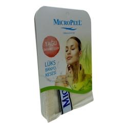 İpek Yağlı Cilt İçin Banyo Kesesi Beyaz 16X24 - Thumbnail