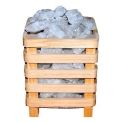 LokmanAVM - Kafes Şekilli Doğal Kaya Tuzu Lambası Çankırı Kablolu Ampullü Beyaz 2-4 Kg Görseli