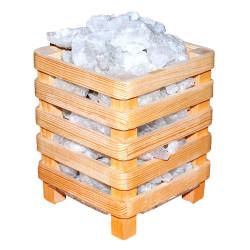 Kafes Şekilli Doğal Kaya Tuzu Lambası Çankırı Kablolu Ampullü Beyaz 2-4 Kg - Thumbnail