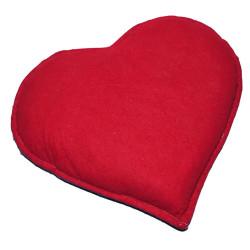 LokmanAVM - Kalp Desenli Doğal Kaya Tuzu Yastığı Mor - Kırmızı 2-3 Kg Görseli